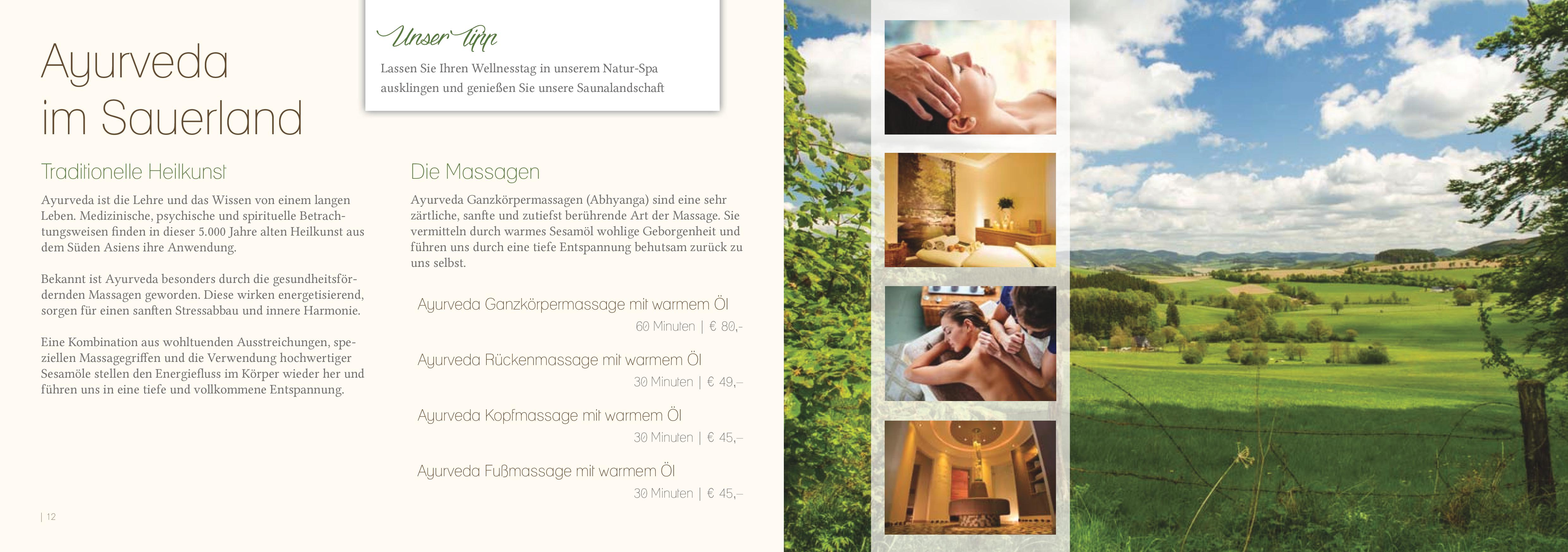 Massagen - Flair Hotel Nieder